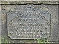 NS9965 : Bridge builder's plaque by M J Richardson