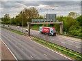 SD5523 : M6 Motorway, Looking South from Lydiate Lane Bridge by David Dixon