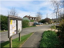 SP8106 : Parish Notices, Bridge Street by Des Blenkinsopp