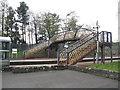 NS9962 : Footbridge at Addiewell Station by M J Richardson