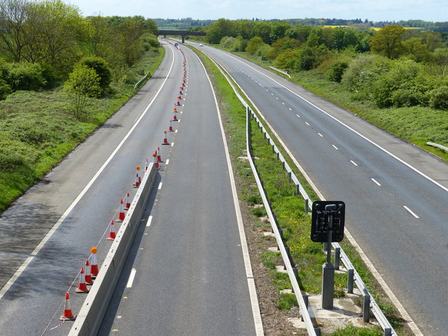 Looking west along the M45 motorway