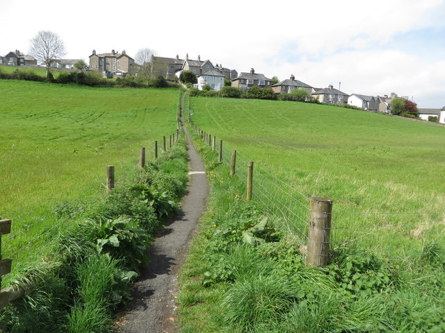 Path into the village, Arnside
