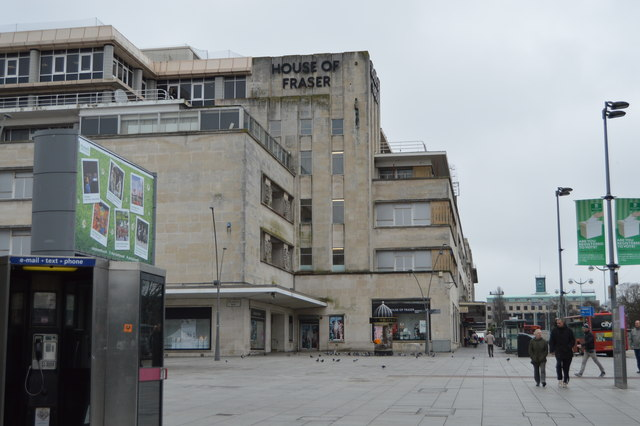 House of fraser plymouth n chadwick geograph britain for Housse of fraser