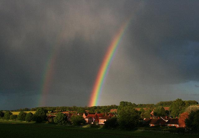 Double rainbow over Little Hoddington