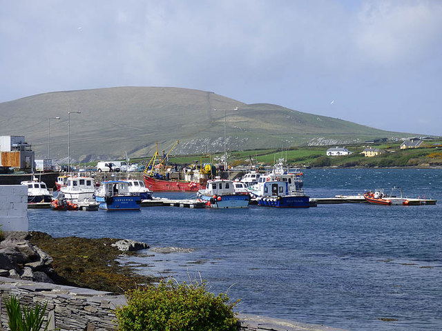 Boats in Portmagee Harbour