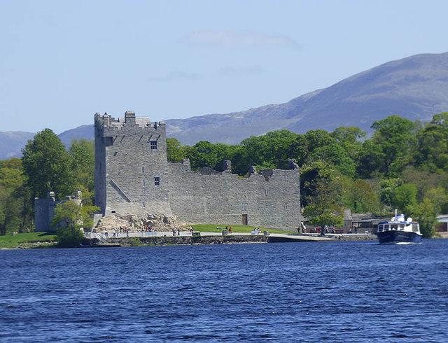 Ross castle, from Lough Leane