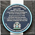 SJ8990 : The Three Shires: Blue plaque by Gerald England