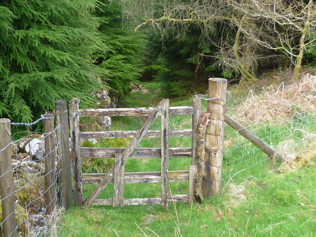 Old wooden gate beside the lane jeremy bolwell