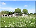 SP7806 : Old sheds behind the church by Des Blenkinsopp