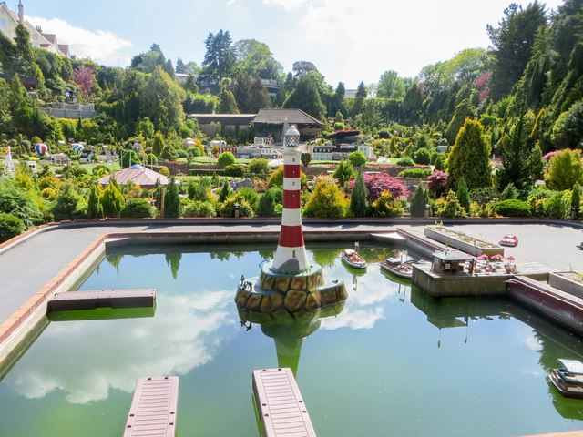 The model lighthouse at the Model Village
