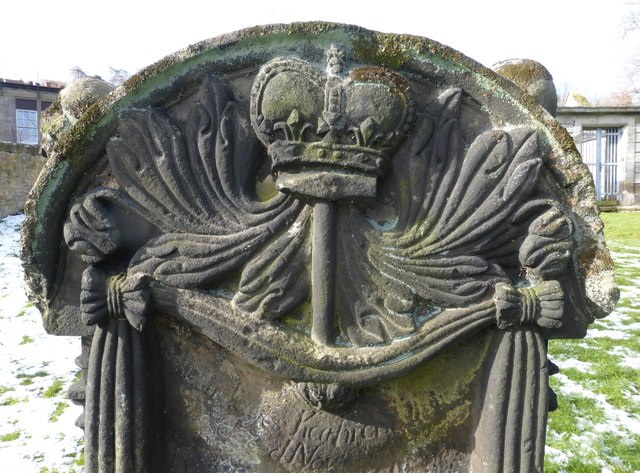 Blacksmith Stone carving, Lasswade Old Kirkyard
