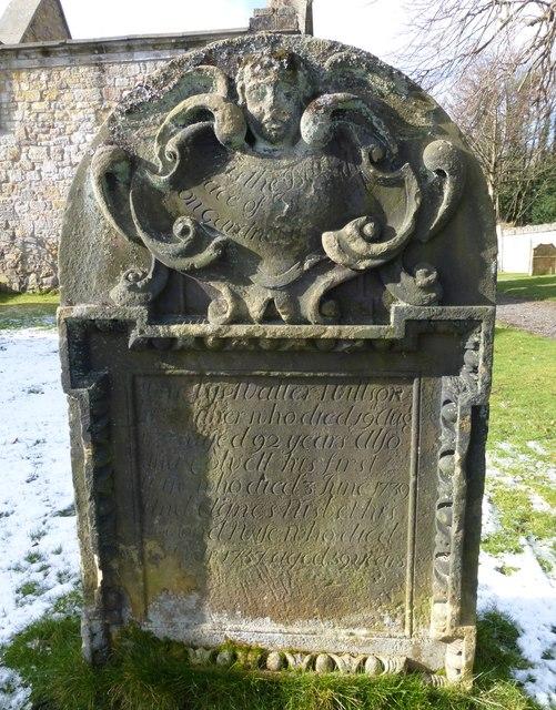 Gardener Stone carving, Lasswade Old Kirkyard
