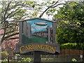 TL0847 : Cardington village sign by Bikeboy