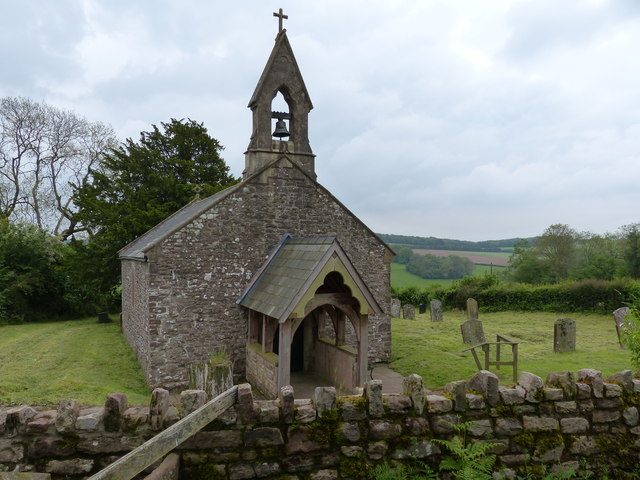 Penterry Church - view from the stile