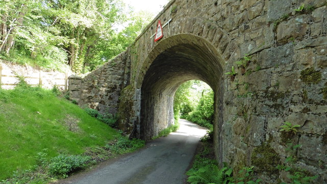 Skew bridge north of Pullabrook Farm near Bovey Tracey