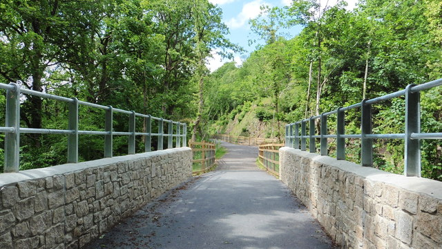 New bridge on a disused railway line