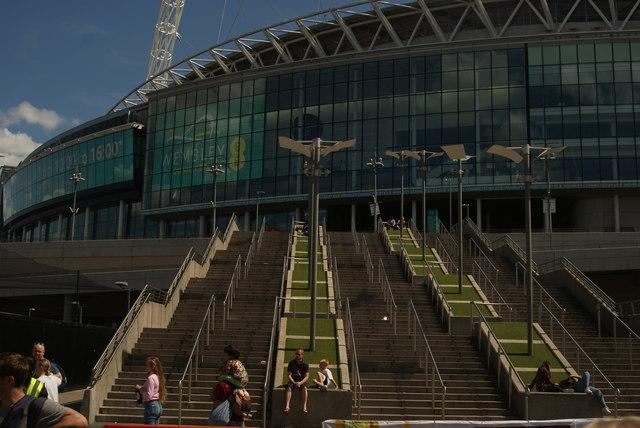 Wembley Stadium Perimeter up to Wembley Stadium From