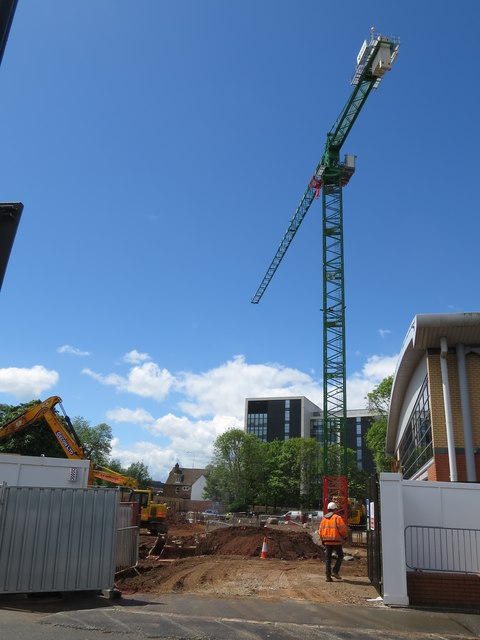 Construction Site for Coventry University Science and Health Building
