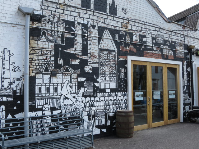 Wall art in Fargo Village