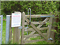 NZ0153 : Gate to the Millshield Picnic Site by Oliver Dixon