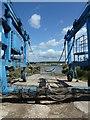 SU7901 : Large boat sling at Itchenor Shipyard : Week 23