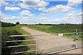 SP7606 : New Entrance to Black Barn Farm by Des Blenkinsopp