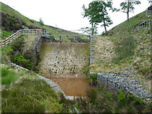SD9433 : Dam in Greave Clough by John Darch