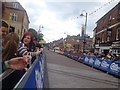 Dist:0.2km<br/>The Women's Tour of Britain 2015 finished in Kettering.  This is a view of the finishing straight.