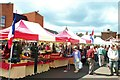 TF0920 : Continental market comes to Bourne, Lincolnshire by Rex Needle