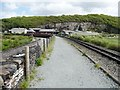 SH5837 : Former quarry at the east end of Porthmadog's Cob by Christine Johnstone