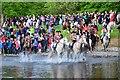 NT2440 : Crossing the Tweed, Peebles Beltane festival (2) by Jim Barton