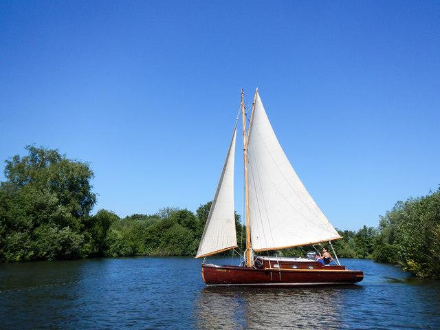 'Hustler', Cabin Yacht, River Bure