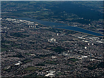 TQ3292 : Edmonton and the Lea Valley reservoirs from the air by Thomas Nugent