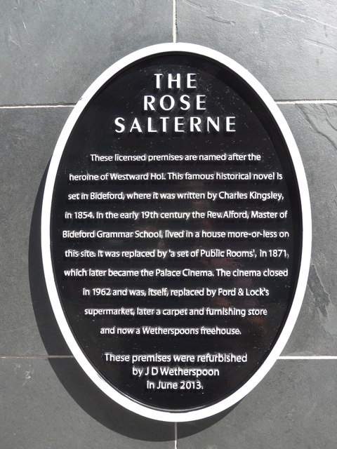 Photo of The Rose Salterne black plaque