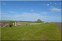 NU1341 : Towards Lindisfarne Castle by DS Pugh