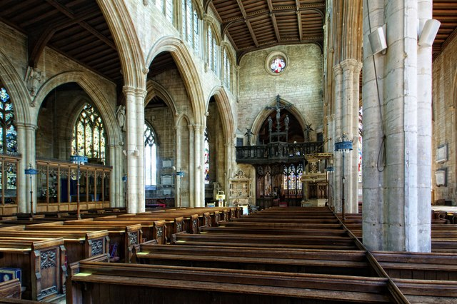 Interior of the Church of St Denys, Sleaford