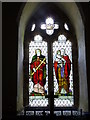 SO6648 : Stained glass window, St Mary's Church, Bishop's Frome by Jeff Gogarty