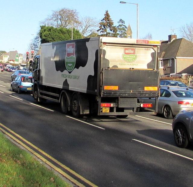 M Ller Wiseman Dairies Lorry On Malpas Jaggery
