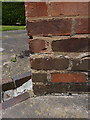 SP1482 : OS benchmark - Ulverley Green, 46 Highwood Avenue by Richard Law