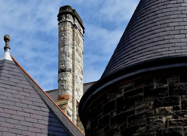 Chimney, Fisherwick Presbyterian church, Belfast (July 2015)