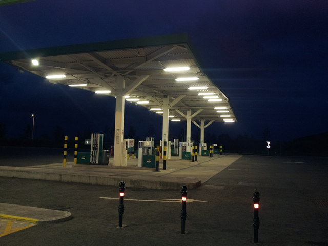 Enfield Services on  M4 heading west