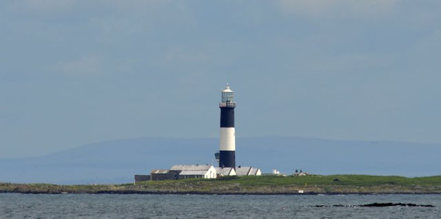 Mew Island lighthouse near Donaghadee (July 2015)