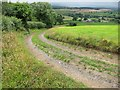 ST5965 : The farm track from Maes Knoll down to Norton Malreward by Dr Duncan Pepper