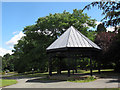 SJ6855 : Queen's Park: Charles Dick memorial shelter by Stephen Craven