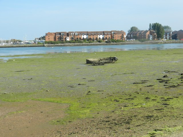 A wreck of wooden boat