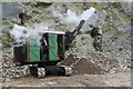 NY3224 : Steam excavator (navvy) - emptying the bucket by Chris Allen