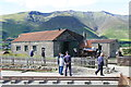NY3224 : Threlkeld Quarry & Mining Museum - locomotive shed and engine by Chris Allen