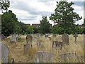 "TQ5084 : ""God's Little Acre"" Dagenham Parish Churchyard by Roger Jones"
