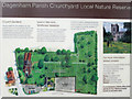 TQ5084 : Information board and outline map, Dagenham Parish Churchyard by Roger Jones
