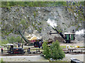 NY3224 : Threlkeld Quarry & Mining Museum - recreated quarry scene by Chris Allen